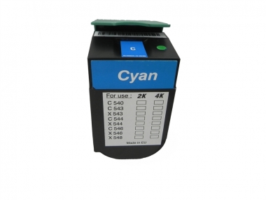 Toner Cyan 4000 S. Lexmark 0C544X1CG kompatibel