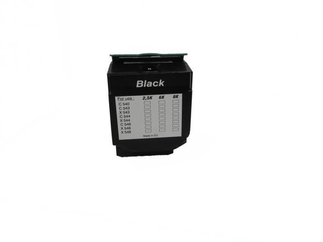 Toner Schwarz 6000 S. Lexmark 0C544X1KG kompatibel
